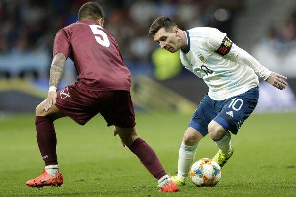 Lionel Messi v reprezentačnom drese.
