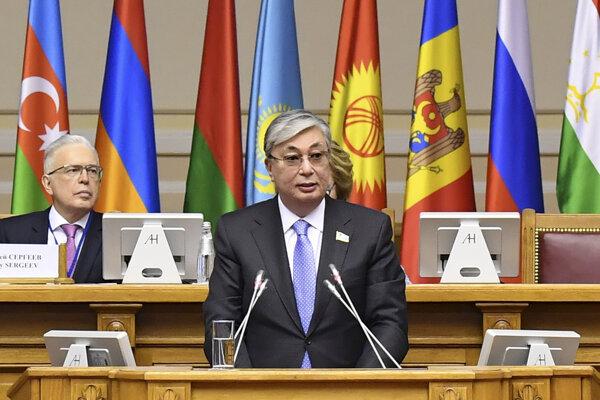 Dočasný prezident Kazachstanu Kasym-Žomart Tokajev.