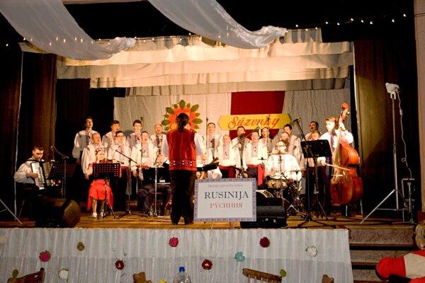 Spevácky zbor Rusinija na Súzvukoch.