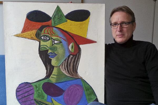 Brand s nájdeným Picassom.