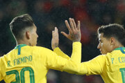 Futbalisti Brazílie.