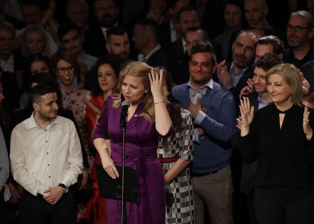 Zuzana Čaputová ďakuje za podporu vo voľbách.