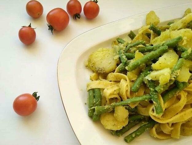 Tagliatelle so zemiakmi a zelenou fazuľkou