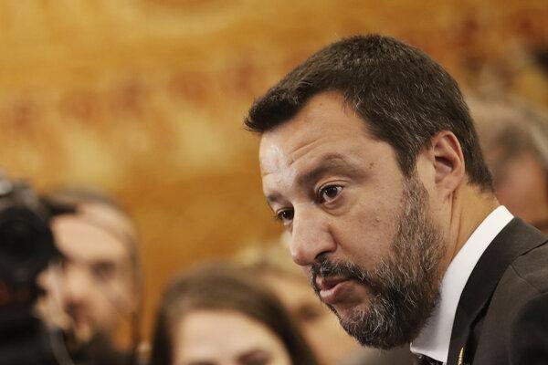Taliansky populistický vicepremiér Matteo Salvini.