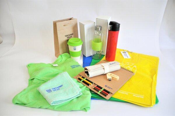 Propagačné predmety mesta sú vyrobené z recyklovateľných materiálov.