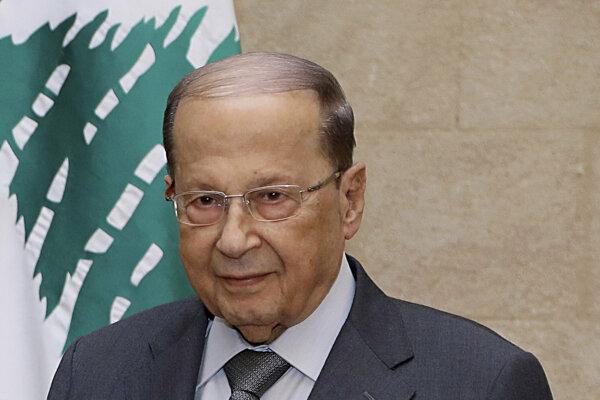 Libanonský prezident Michel Aún.