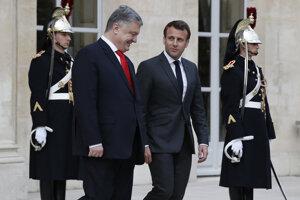 Porošenko a Macron.