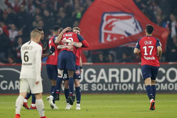 Momentka zo zápasu Lille - PSG.