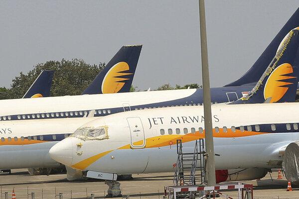 Lietadlá spoločnosti Jet Airways.
