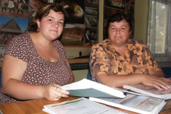 Manažérka MAS Malohont Miroslava Kubaliaková (vľavo).