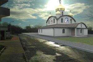 Chrám bude stáť na Kalvárii - vizualizácia.
