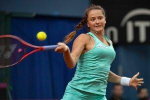 Na snímke slovenská tenistka Viktória Kužmová.