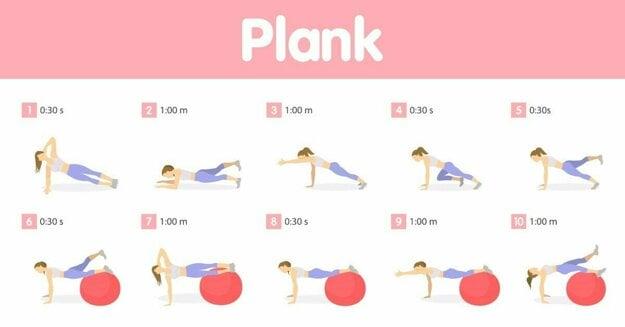 Z rozličných typov plankov si môžete vytvoriť účinnú zostavu cvikov, ktoré posilnia jadro vášho trupu.