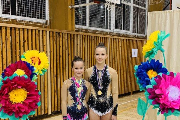 Dcéry olympijského šampióna Michala Martikána si vybrali modernú gymnastiku. Súťažili aj v Košiciach.