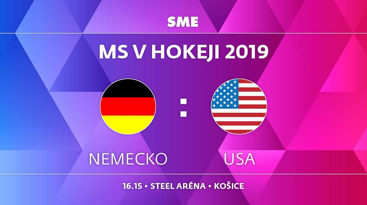 a31d9658a0339 Nemecko - USA, zápas MS v hokeji 2019, skupina A. Sledujte online prenos