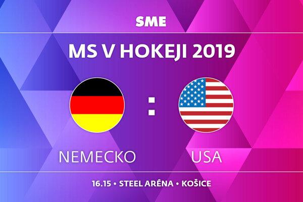 Nemecko - USA, zápas MS v hokeji 2019, skupina A. Sledujte online prenos na SME.sk.