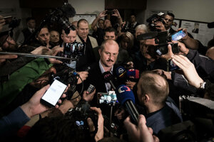 Marian Kotleba po rozhodnutí Najvyššieho súdu.