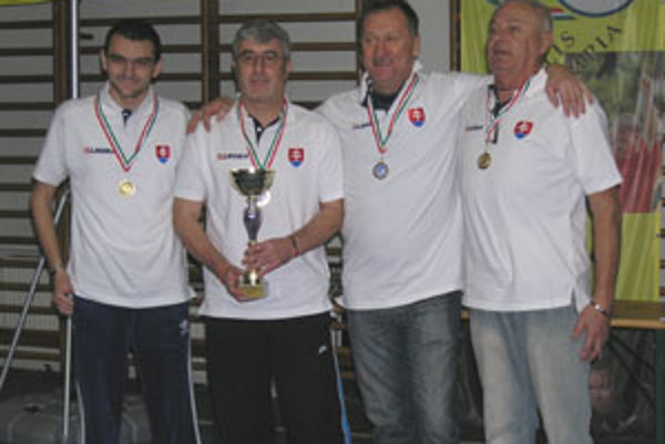 Slováci s talianskou posilou: zľava Pier Paolo Soresi, Ján Šnúrik, Ivan Stieranka a Ondrej Garaj.