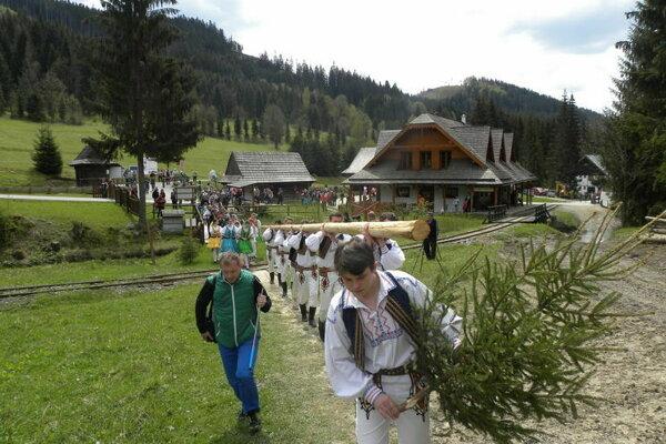 Stavanie májov je na Kysuciach veľkou tradíciou.