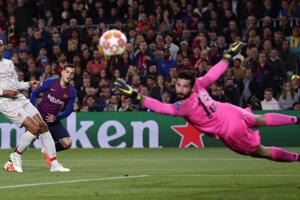 f442a4c0b6 Liga majstrov - semifinále  Najlepšie momentky zo zápasu FC Barcelona - FC  Liverpool (24 fotografií)