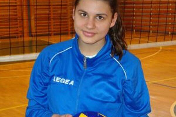 Trinásťročná Natália Balcová bola najmladšou volejbalistkou na šampionáte.
