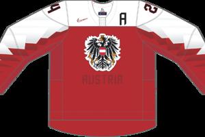 Dres Rakúska určený pre zápasy, v ktorých je napísané ako hosťujúci tím.