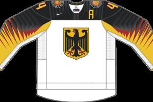 Dres Nemecka určený pre zápasy, v ktorých je napísané ako domáci tím.