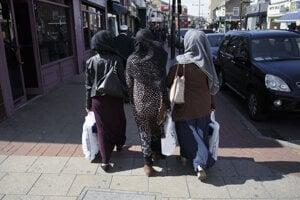 Moslimské ženy v Londýne.
