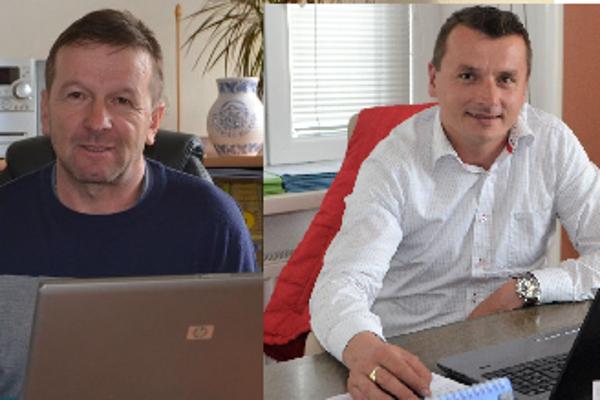 Starosta Muráňa (vľavo) Roman Goldschmidt a starosta Buzitky Miroslav Malatinec.