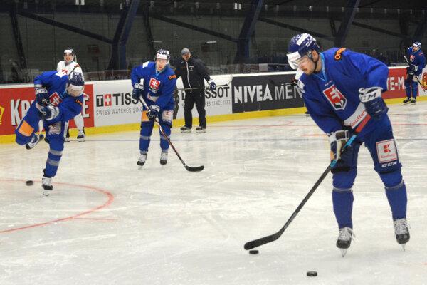 Slováci si zatrénovali v Steel Aréne pred posledným prípravným zápasom s Nórskom.