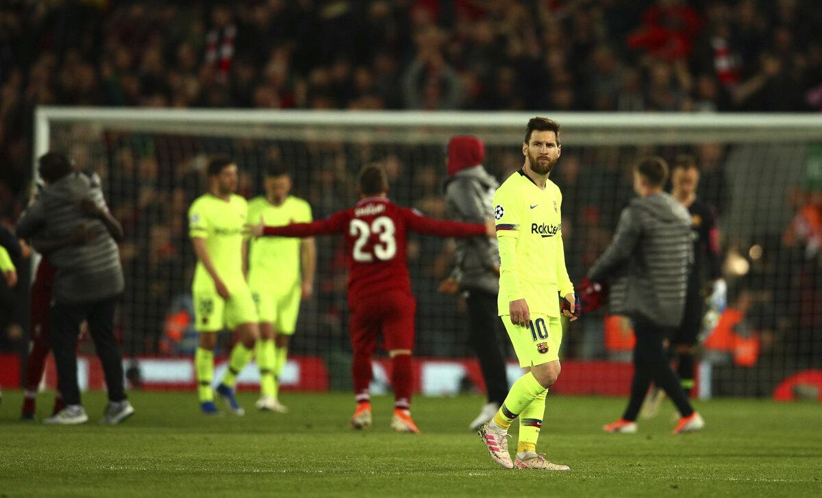 4b86d62ef5 Lionel Messi po zápase FC Liverpool - FC Barcelona v semifinále Ligy  majstrov.