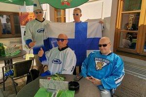 Hokejoví nadšenci z Fínska.