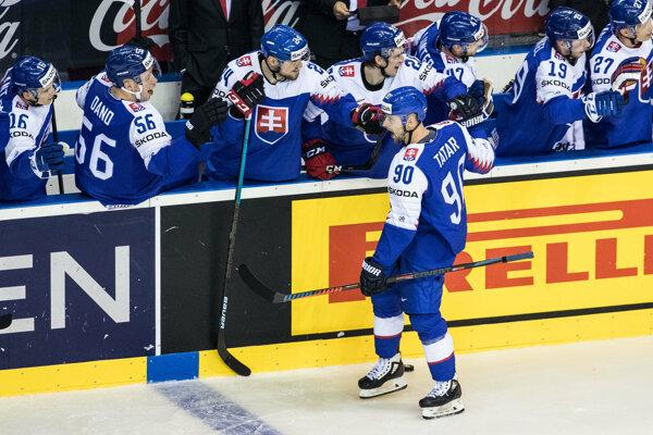 Tomáš Tatar počas MS v hokeji 2019.