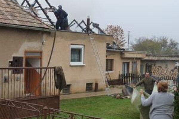 Výťažok z futbalového dňa dostane František Záchenský, ktorému požiar značne poškodil dom.