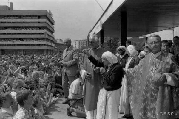 Matka Tereza  navštívila  Čadcu 14. mája 1990.