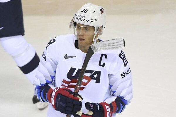 Američan Patrick Kane, jedna z najvýraznejších postáv súčasného hokeja i šampionátu v Košiciach a Bratislave.