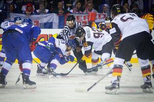 Záver zápasu Nemecko - Slovensko na MS v hokeji 2019.