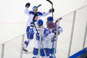 Momentka zo zápasu Slovensko - Francúzsko na MS v hokeji 2019.