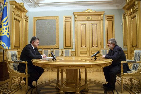 Končiaci prezident Porošenko s oligarchom Ihorom Kolomojským v roku 2015.