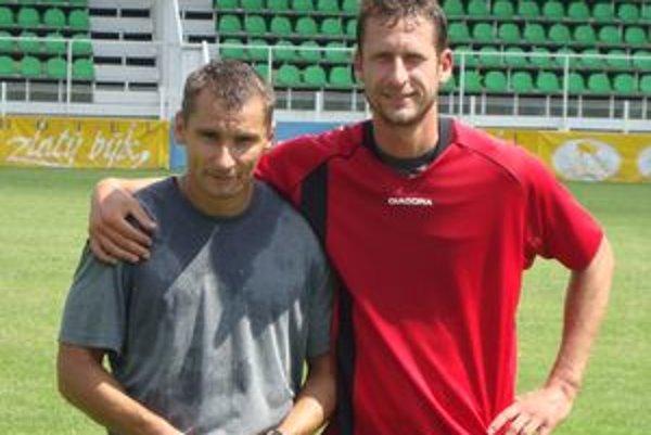 Skúsenné obranné duo Branislav Mráz (vľavo) a Gergely Geri.