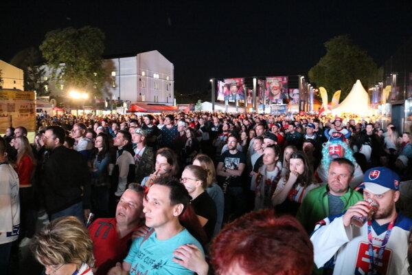 Košická fanzóna si užila predposledný zápas slovenského tímu.
