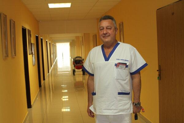 Martin Sudek - primár Gynekologicko-pôrodníckeho oddelenia v Žiline.