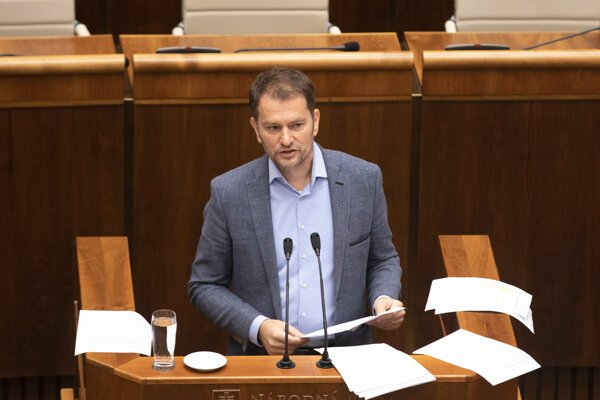 Igor Matovič počas stredajšej schôdze.