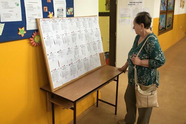 Voľby na ZŠ Gemerská v Košiciach.