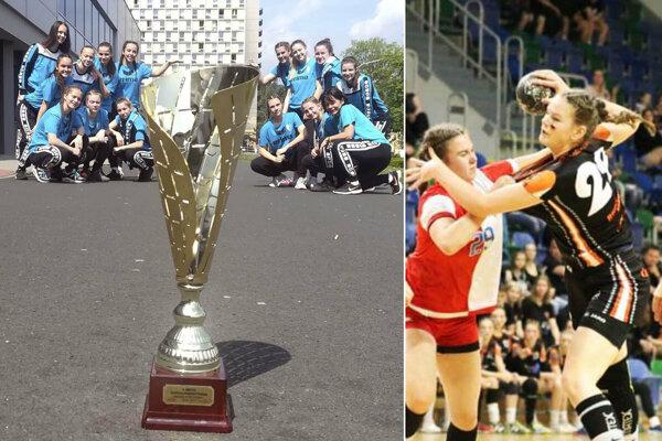 Na Čsl. pohári v Moste si zahrali v kategórii mladších dorasteniek dievčatá zo Šale a Nitrianka Andrea Rudincová (v drese Mostu).