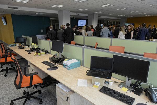 Priestory novootvoreného podporného centra GBS (Global Business Support) nadnárodnej spoločnosti Embraco v Košiciach.