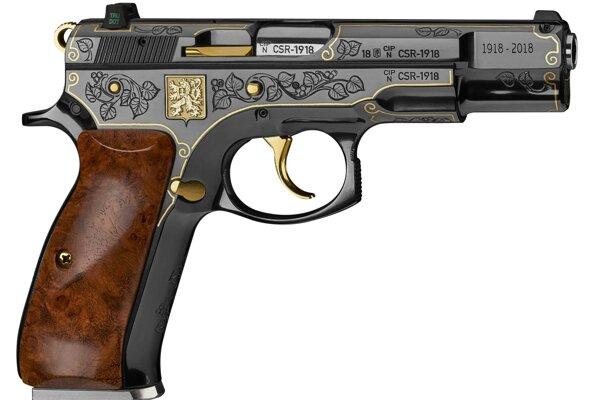 Pištoľ limitovanej edície CZ 75 Republika.