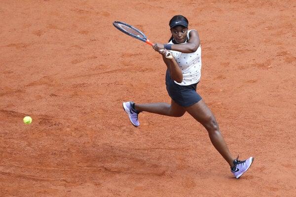 Sloane Stephensová na Roland Garros 2019.