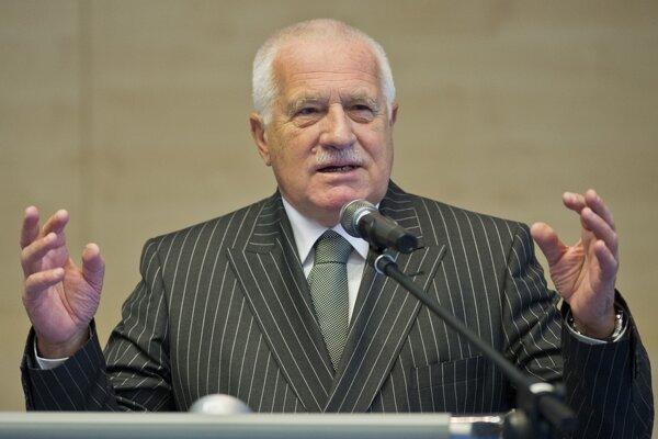 Český exprezident Václav Klaus.