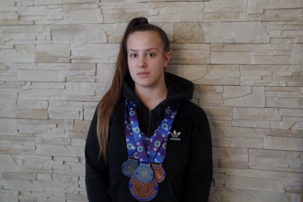 Patrícia Slížová s medailovými úlovkami.